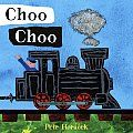 Choo Choo by Petr Horacek:  Hop in! The bold illustrations and playful sound words in these two board books with die-cut pages will beckon to preschoolers who love things that go. What could be more fun than an old-fashioned train ride? Off go the passengers, past the town, into...
