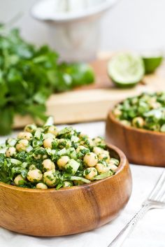 Cilantro Lime Chickpea Salad