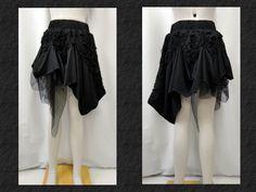 【楽天市場】ゴスロリ ゴスパンク V系 アシンメトリー スカート 変形 ゾンビ チュール 黒:PARROT