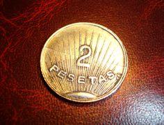 32,00€ · MONEDA  de dos   Ptas Curiosa y Rara · antigua y curiosa moneda  de DOS PTAS  ...    CARA  A  figura  2 pesetas y en lateral J6   CARA  B  figura AGUILA con la inscripcion CANADIEM-CLUB     en perfecto estado · Aficiones y ocio > Coleccionismo > Monedas