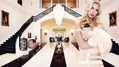 Heiress Petra Ecclestone shows off her  $85 million dollar Mansion! Its My dream home!! All glamorous black & white modern baroque!! The Marilyn in her salon is To.Die. For. So jealous.