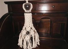 Liqueur Bottle Decorated with Macrame