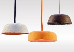 Paperlain pedant lamps, Ahsayane Studio, using a material mix of porcelain, recycled paper and ceramic pigments.