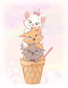 Aristocats fan art as sketch illustration drawing
