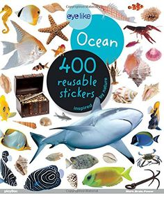 Eyelike Stickers and thousands more of the very best toys at Fat Brain Toys. These sticker books come with 400 stickers inspired by nature. The stickers can be reused and are fun to share with friends! Science Projects, Projects For Kids, Art Projects, Crafts For Kids, Ocean Activities, Book Activities, Activity Books, Ocean Zones, Continents And Oceans