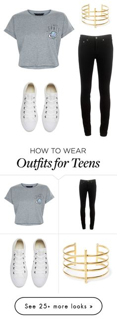 """""""Such a cute casual outfit"""" by lookswithlauren on Polyvore featuring rag & bone, New Look, BauXo and Converse"""