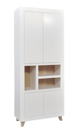 Vakkenkast Hip 4 deuren 3 vakken 1000696 Decor, Furniture, Lockers, Shelves, Bookcase, Pine Design, Home Decor, Locker Storage, Storage