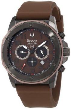 Relógio Bulova Men's 98B128 Marine Star Brown Dial Strap Watch #Relogio #Bulova