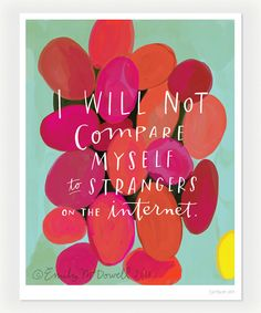 """Strangers on the Internet Inspirational Quote Print: 8""""x10"""" Wall Art Hand-Lettered Typography on Etsy, $26.00"""