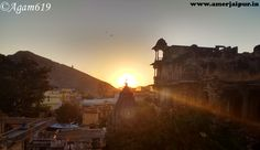 may bring you hope. Beautiful view of sunset at amer town jaipur india. Virtual Travel, Rajasthan India, Tourist Places, Small Towns, Monument Valley, Tourism, Places To Visit, City, Nature