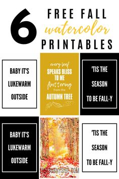 There's nothing like bringing in the deep rich colors of fall and warming up the home. What better way than to incorporate these free fall watercolor printables? #printable #free #fall #falldecor #fallhomedecor