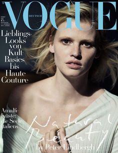 Lara Stone by Peter Lindbergh Vogue Deutsch May 2017