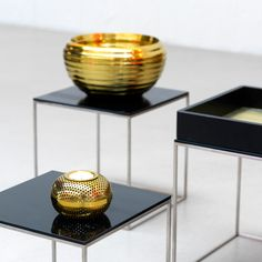 Ruth metal bowls from Louise Roe, at www.shopkontrast.com.