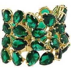 Green - Emerald Cuff Bracelet