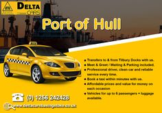 Delta Cars provides an excellent Seaport transfer service to and from Hull Seaport. The ferry terminal at Hull is very popular for travel in the UK. London Airports, South East England, Anglesey, River Thames, North Sea, Portsmouth, Taxi