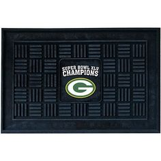 "Green Bay Packers SB Champs Heavy Duty Vinyl Doormat by Fanmats. $34.99. Decorated with colorful graphics. Durable door mat. Dimensions: L 30"" x H 19""Officially licensed. Made in USA. Please Note: This item is made-upon-order, therefore requires additional processing time, which is reflected in the estimate above. Please Note: Due to the long lead time of this item, it is not eligible for Expedited shipping. Adorned with your favorite team's logo, these door mats make a statemen..."