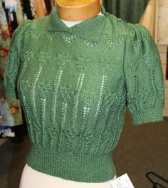 Womens ladies 1940s 1950 s Green Jumper Rockabilly RnR WWII reenactment events