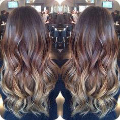A more natural looking ombré. Not too dramatic. Not too much blonde in it either #ombré #hairfashion