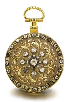 Robert Roskell, Liverpool - Three Color Gold And Paste-Set Open-Faced Watch With Unusual Massey Lever Escapement    c.1830  -   Sotheby's