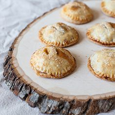 These Mini Caramel Apple Hand Pies are the perfect bite of sweet delicious fall flavor.