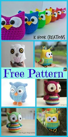 12 Cutest Crochet Amigurumi Owl Free Patterns #freecrochetpatterns #owl #amirurumi Crochet Bunny, Knit Or Crochet, Crochet Patterns Amigurumi, Cute Crochet, Crochet For Kids, Crochet Animals, Crochet Crafts, Crochet Projects, Diy Crafts