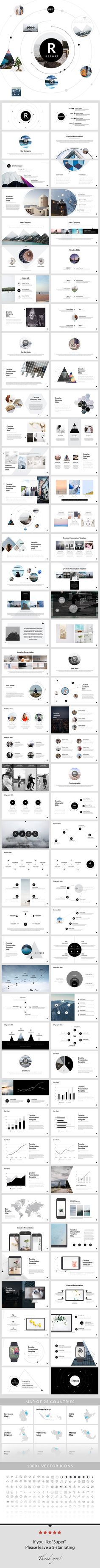 Report - PowerPoint #Presentation Template - Creative #PowerPoint #Templates Download here: https://graphicriver.net/item/report-powerpoint-presentation-template/19510099?ref=alena994