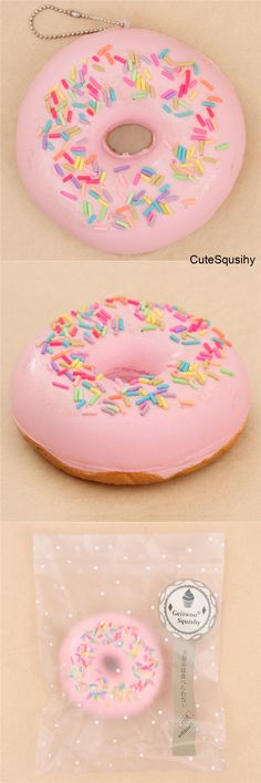 Silly Squishies Sugar Shop Pink Donut Squishy Frosting Scent NEW In Box