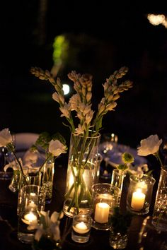 centerpieces of modern elegance | Photo by Joanna Tano Photography, Flowers: DIY, sourced from Paradise Flower Farms