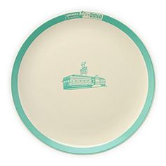 Disney Mickey's Diner Logo Dinner Plate | Disney StoreMickey's Diner Logo Dinner Plate - You'll look forward to your greens at meal time when they come in the form of this dinner plate. Featuring the logo for Mickey's Really Swell Diner, the retro styling and colors will make you hunger to visit the imaginary restaurant.