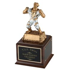 This ripped beast will impress your fantasy league!  Engrave your winner's names on the sides and pass around from year to year.