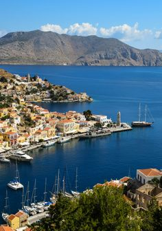 Symi Harbor - Symi, Greece