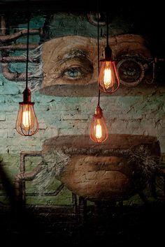 commercial interior design, art, murals, paintings inside a venue. Design Bar Restaurant, Decoration Restaurant, Pub Decor, Cafe Bar, Bar Pub, Pub Design, Coffee Shop Design, Wall Design, Design Art