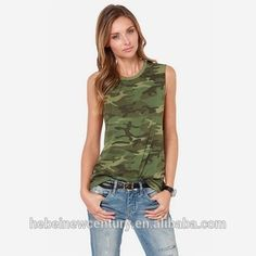 Cheap top fashion design software, Buy Quality top plus size fashion designers directly from China top ingredients Suppliers: 2016 New Summer Women Tops Printed Camouflage Green Round Neck Sleeveless Tank Tops Female Casual Army Blusas Femininas Umgestaltete Shirts, Camo Shirts, T-shirt Refashion, Top Fashion, Fashion Women, Fashion Clothes, Style Fashion, Camo Tank Tops, Camouflage Tops