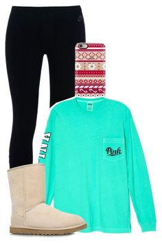 """""""Chill weekend"""" by mallory-fashion ❤ liked on Polyvore featuring NIKE, Casetify, Victoria's Secret and UGG Australia"""