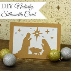 DIY Nativity Silhouette Christmas Card from Pitter and Glink  http://www.Pitterandglink.blogspot.com