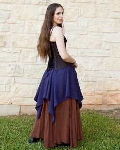 Hey, I found this really awesome Etsy listing at https://www.etsy.com/listing/199110273/blue-linen-pixie-skirt-renaissance