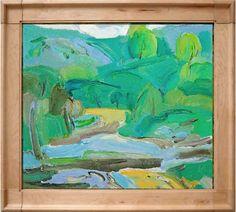 Tian Yi, Landscape, oil on canvas, collection Galerie Kunstbroeders