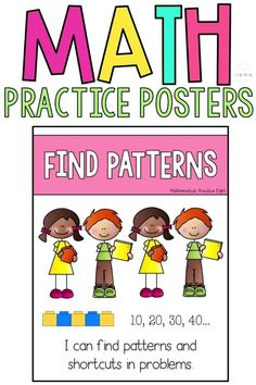 These 8 Standards for Mathematical Practice posters are student friendly math posters for the primary classroom. Teachers will love the I Can Statements included on each poster to help enhance learning and understanding for kids. These posters follow the Common Cores math practices! Great for kindergarten, 1st grade, 2nd grade, and 3rd grade classrooms.