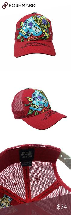 Ed Hardy Christian Audigier Snapback Hat Trucker Style Mesh Back Hat / Cap. Gently Pre-owned.   Clean and Nice. Accessories Hats