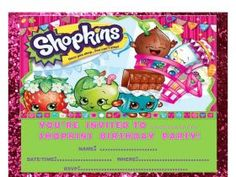 Shopkins Birthday Printable Party Pack $28 available at www ...