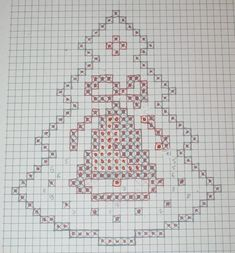 Best 11 Christmas Tree Machine Embroidery design Freestanding Lace In Crochet Snowflake Pattern, Crochet Motifs, Crochet Snowflakes, Crochet Chart, Crochet Patterns, Cross Stitch Heart, Cross Stitch Cards, Cross Stitching, Cross Stitch Embroidery