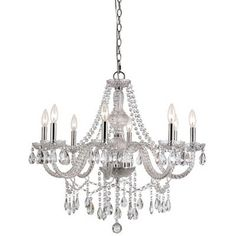 Belair Home Furnishings 8 Light Silver Crystal Chandelier, found at TuesdayMorning.com @tuesdayam