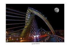 Milenio by Jorge Cacharrón Motion Blur, Long Exposure, Cityscapes, Bridges, Opera House, Colorful, Architecture, Night, Building