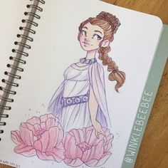May 4th #dailydrawing [Leia]. Happy Star Wars Day! I realized I've never drawn Leia's ceremonial gown and I'll never pass up an excuse to look up pictures of Carrie Fisher ❤️ #maythe4thbewithyou #starwarsday #art_daily #artstagram #artistsofinstagram #illustrationdaily #sketchbookdaily #mosseryco #watercolors #koiwatercolors #princessleia #instaart #igdraws #creative_instaarts #illustratenow #abeautifulmessapp