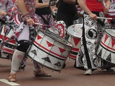 #Batala #drumming #street #parade #Liverpool #maritime and #music #festival #UK