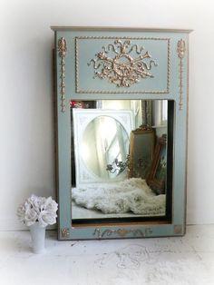 T R U M E A U....   French Antique Mirror by smallVintageAffair, $498.00
