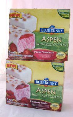Blue Bunny Aspen Frozen Yogurt Granola Bar