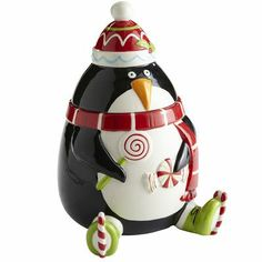 Loving this penguin cookie jar from Pier One!