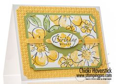 Note the way she used the die cut to make a neat embellishment.  Chiaki Haverstick - stampingpro.com