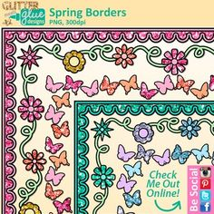 Spring borders clipart galore! What kid doesn't love glitter (or adult for that matter)? Now you can have all the fun with glitter but without the mess! These borders are perfect to pep up Spring projects, quizzes and tests, school programs, worksheets, or anywhere you want to add a bit of Springtime whimsy.Spring Borders Clip Art come in .png (transparent background) format.You Might Also Like: Schoolhouse Page Borders Rainboots & Umbrellas Butterflies and FlowersFEEDBACK ON FREEBIES ARE...